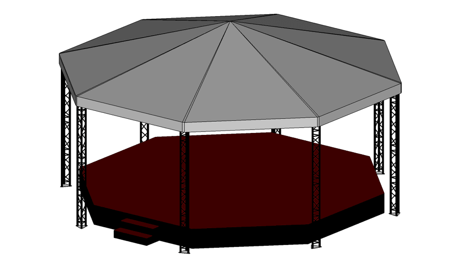 Bandstand Hire 2 - 10m x 10m